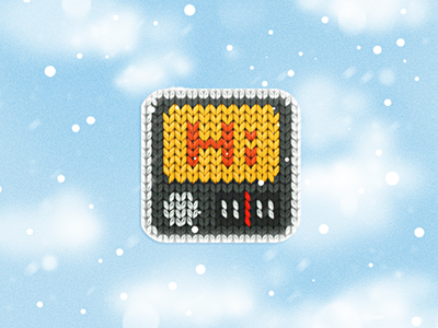 a woolen radio icon