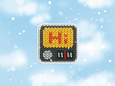 a woolen radio icon icon