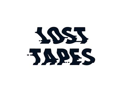 Lost Tapes vhs logo branding typography identity