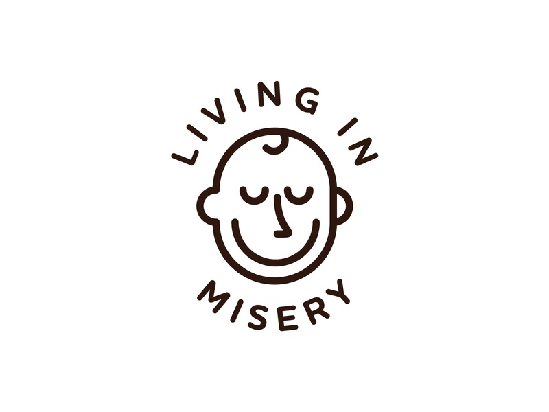 🥀  Living in Misery  🥀 🥀 sadness mental awareness face misery typography illustration