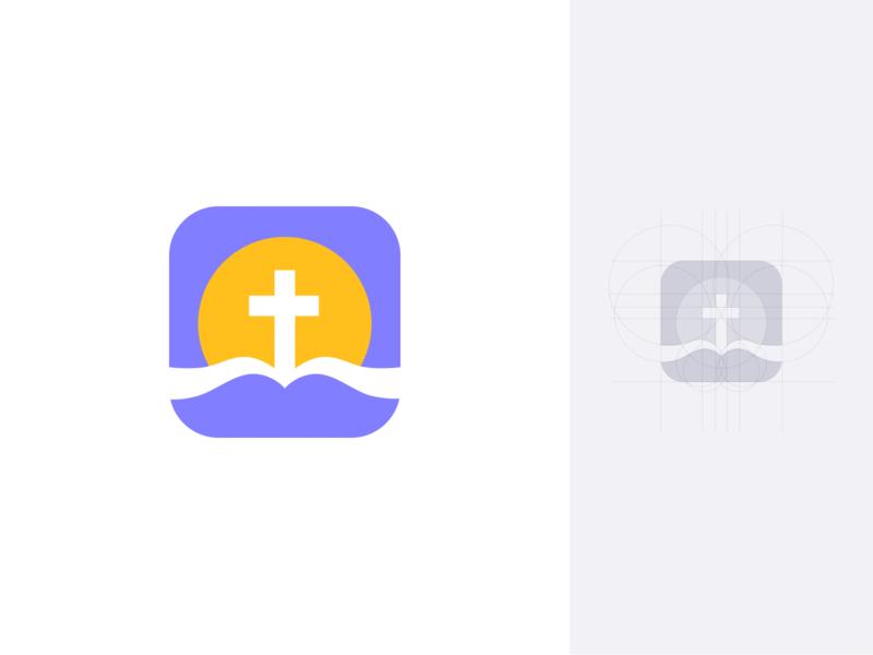 Bible app icon identity brand unfold icon app branding vector logo design christian bible icon app logo mark