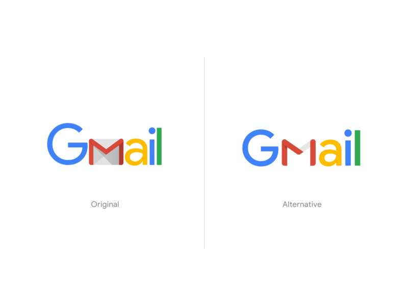 Gmail Logo Exploration unfold mark design gmail typography clean google logotype rebranding branding exploration logo concept