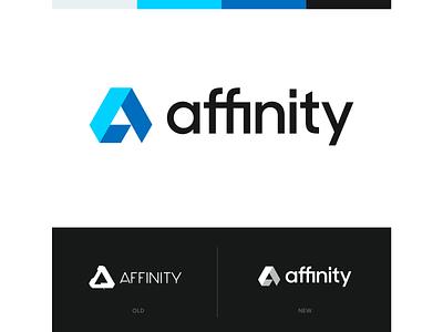 Affinity logo concept unfold identity logo concept logo redesign affinity designer affinity design logomark mark typography branding logotype logo design