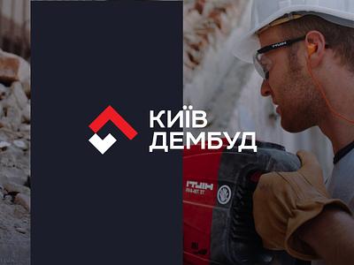 Demolition logo construction logo unfold russian ukraine typography logotype icon mark logo mark brand branding logo buildings reconstruction dismantling demolition