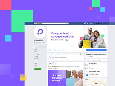 Picnichealth social media unfold medicine style facebook ads facebook medical marketing logo colors branding picnichealth social network social media