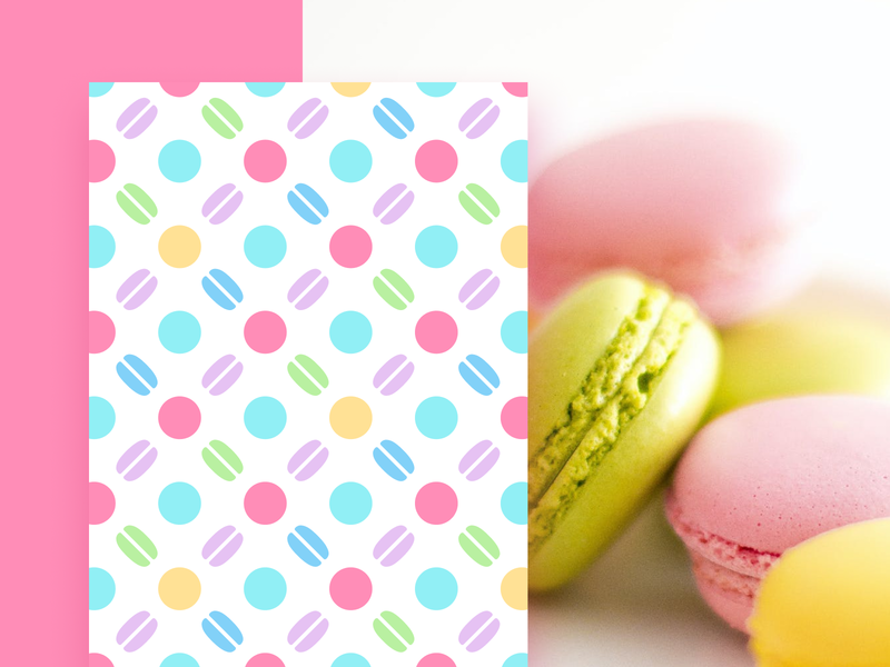 Pattern design cake graphic design unfold shop patisserie bakery macaroon macarons macaron brand identity branding illustration texture pattern