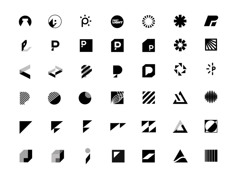 Postlight mark exploration prism letter p logo agency light post postlight unfold exploration brand mark icon symbol branding logo mark