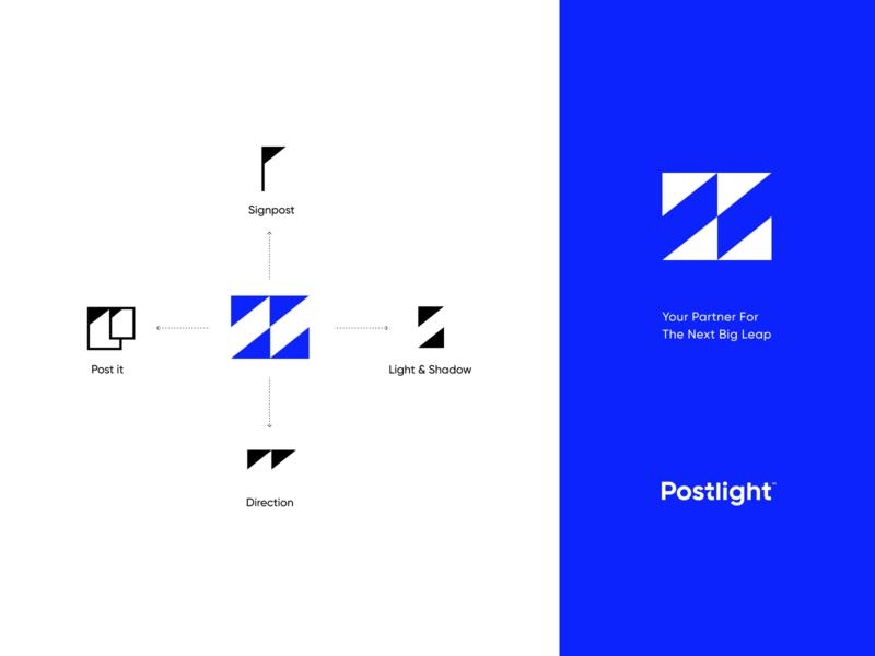 Postlight Logo Concept concept typography unfold agency branding agency direction light postlight post strategy identity exploration branding brand symbol icon mark logo