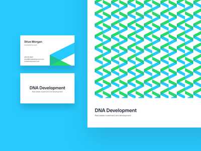 DNA Development branding unfold illustration logotype typography stationery business card texture pattern brand element identity branding investment real estate development