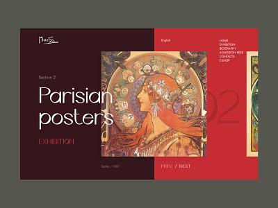 Alphonse Mucha Web Concept colors unfold redesign design website landing page art nouveau modern mucha alphonse mucha artist art museum typography web concept web design