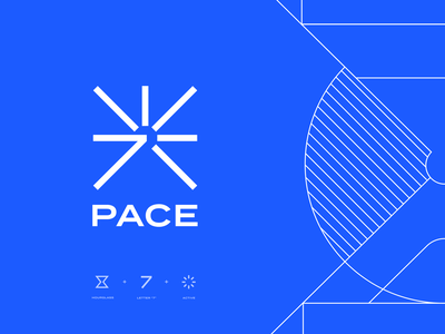 7pace logo exploration illustration azure unfold software development developers hourglass pace 7 timetracker tracking time identity mark logo exploration branding logo