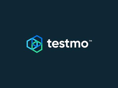 Testmo rebranding modern logo time tracker management tool management test responsive logo identity pattern testmo unfold mark rebrand branding logo