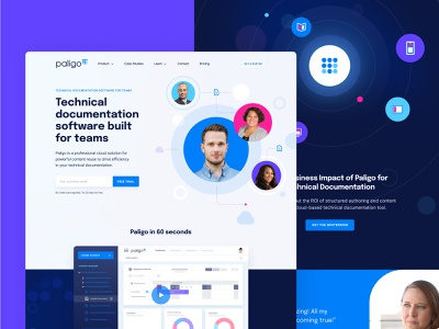 Paligo web design illustrations paligo unfold website cloud web ux ui organize landing page documents documentation doc design web design