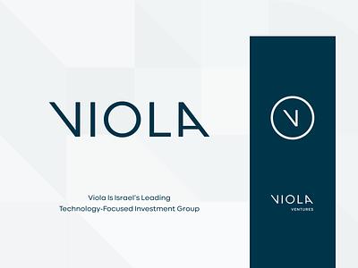 Rebrand concept design israel subbrand viola typography technology group finance investment logotype mark logo rebranding branding