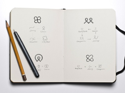 Logo sketches health pencil sketch design mark unfold keycare exploration notebook drawing logo concepts logo design sketches