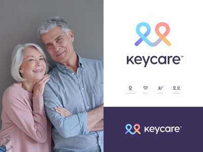 Logo concept medical app cancer health care keycare big sur logotype mark logo system identity branding icon design icon app app design logo design