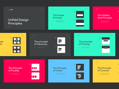Unfold Design Principles guidelines design rules ui branding typography layout unfold design design guide design principles