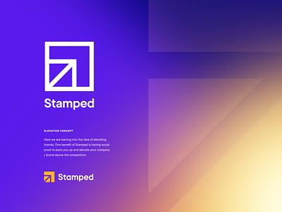 Stamped logo concept grow identity design unfold social elevate arrow stamp stamped ui typography illustration icon mark logo design branding