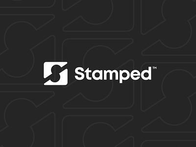 Stamped logo concept logotype unfold branding icon identity mark typography stamped stamp logo design