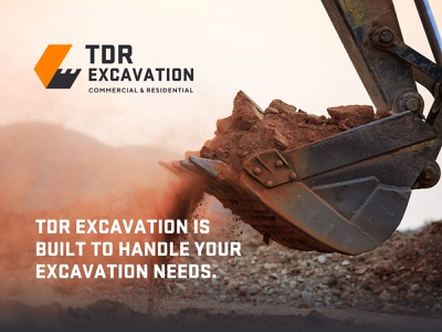 Excavation Brand Identity land services engineering development company constraction excavation logotype brand guideline typography unfold mark brand identity branding logo design