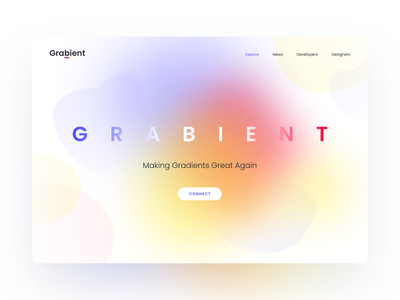 Grabient - Landing Page color palette colors typography landing page layout design design illustration unfold hero web design grabient gradient