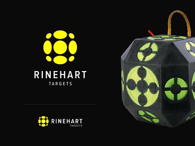 Rinehart targets logo concept black yellow colors typography identity logotype mark unfold target archery branding logo design logoredesign rebrand