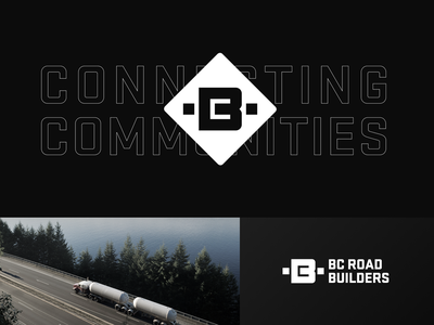 BC Road Builders rebranding redesign concept bc maintenance building construction road letter b identity unfold typography logotype branding mark logo