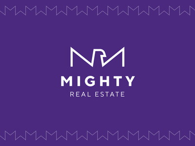 Mighty branding house letter m eagle real estate logo mighty brand element pattern brand identity typography logotype unfold branding logo design