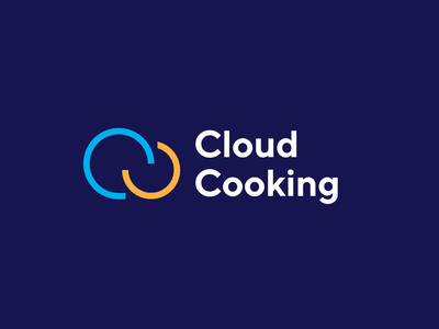 Cloud Cooking logo concept texture pattern delivers food service provider meal cooking logo cooking cloud identity mark unfold logotype typography branding logo design