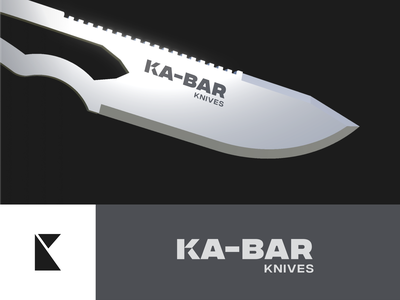 Ka-bar logo redesign! sport outdoor military hunting cut type identity logotype mark unfold typography branding logo redesign logodesign knife logo knife