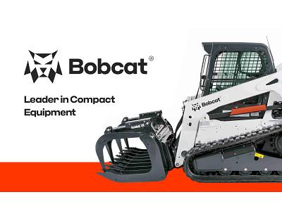 Bobcat logo redesign tractors excavators loaders industry development machines construction compact equipment bobcat mark logotype branding logo concept logo redesign logo design