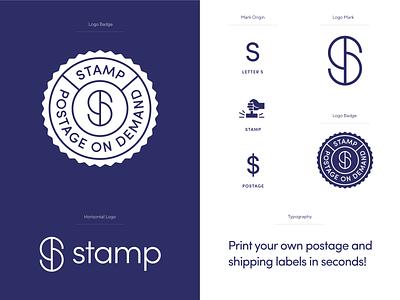 Stamp responsive logo rebrand logo redesign s logo post postage logotype logo system responsive logo mark unfold typography branding logo design stamp