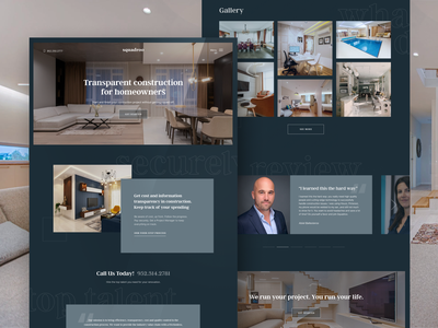 Web Design home page landing page unfold ui ux house interior interior design constraction layout renovation remodeling web design