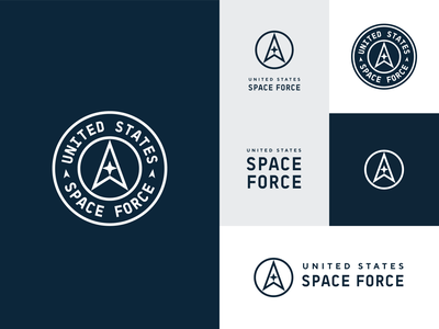 U.S. Space Force Rebrand logo concept exploration simple us logo modern cosmos space army logo badge unfold rebrand branding logoredesign logo