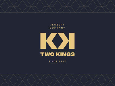 Two Kings logo boutique brand texture pattern logotype mark typography unfold luxury jevelry two kings brand logo concept logo design