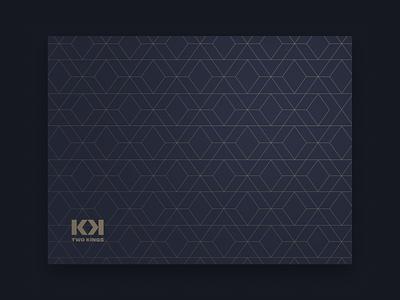 Diamond pattern letter k luxury kings jewelry design illustration unfold brand identity branding diamond texture pattern