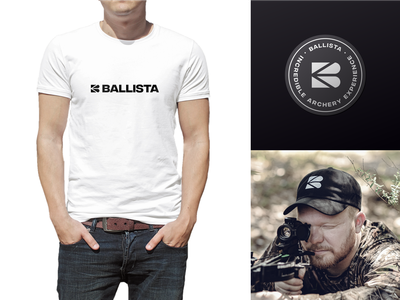 Ballista Branding bw gray black color palette typography mark brand identity visual identity branding logotype logo design sport shooting crossbow bow archery ballista