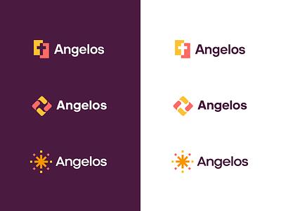 Angelos logo concepts colors branding christianity unfold logotype icon logo exploration logo design logo concept connect church community angelos