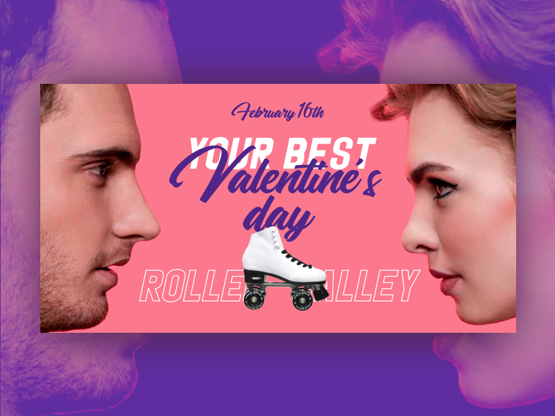Valentine's Day Invitations valentines day typography love  type invitation design couple banner