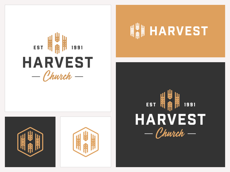 Harvest Church Logo harvest church mark type identity branding logotype logo design logo design