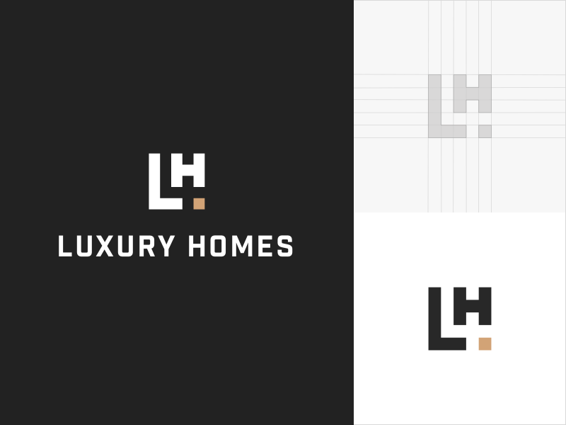 Luxery Homes logo logo design typography homes luxury icon mark construction identity branding brand logo design