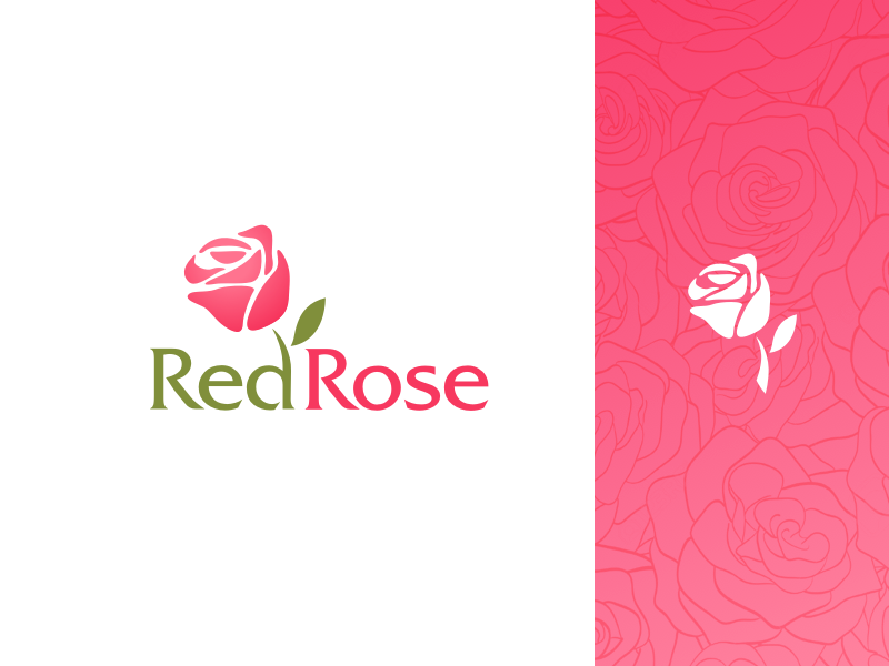 Red Rose Logo Design By Benjamin Oberemok Dribbble Dribbble