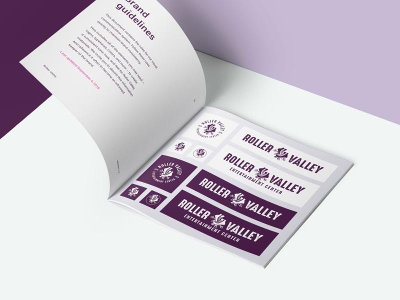 Roller Valley Brand Guidelines identity system style guide ui manual guidelines brand identity seattle brand guidelines brand guide brand book brand design