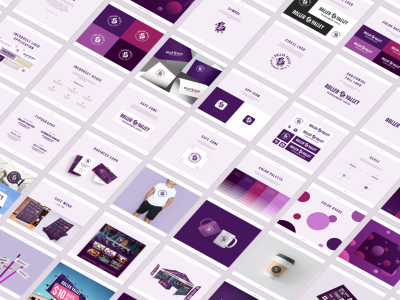 Roller Valley Brand Guidelines design system identity system clean branding mark typography ui style guide manual color palette brand identity design seattle brand guide brand guidelines brand book