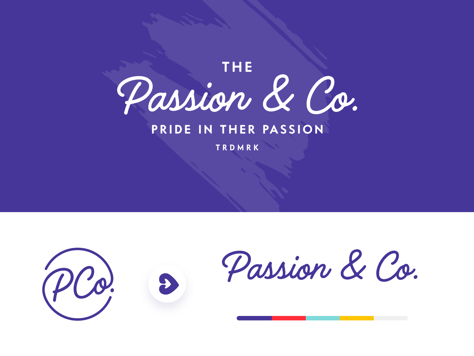 Passion & Co  Logo Exploration by Benjamin Oberemok for
