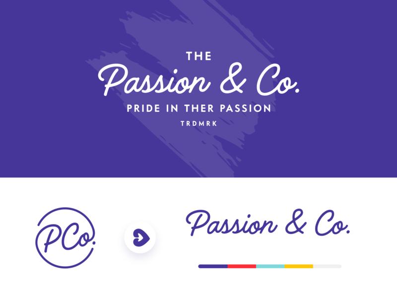 Passion & Co. Logo Exploration web design layout logodesign unfold passion purpose mark type brand identity logo typography logotype branding