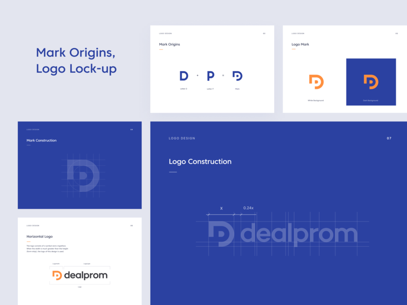 DealProm BrandBook ui typography unfold style guide seattle mark identity system brand guide manual design system color palette clean branding brand identity design brandbook brand guidelines brand