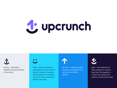 Upcrunch Concept concept logo designer colors seattle unfold logo mark typography lending logo design up crunch identity brand branding