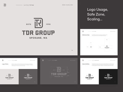 TDR Group BrandBook logo design ui typography style guide seattle manual identity system design system color palette branding brand identity design brand guidelines brand guide brandbook brand