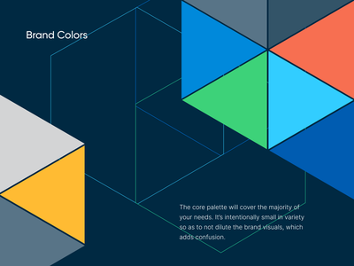 Color Palette agency unfold design style guide manual brandbook brand guidelines branding brand colors color palette colors